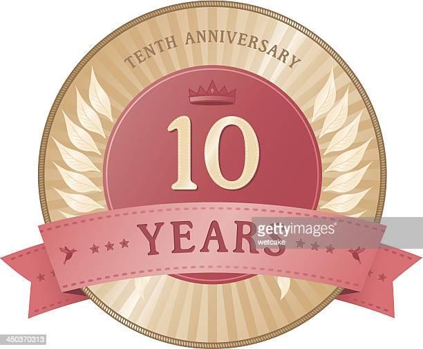 Diez años tarjeta de aniversario