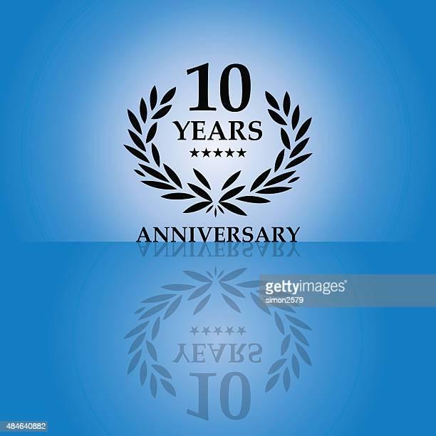 10 年周年記念エンブレム