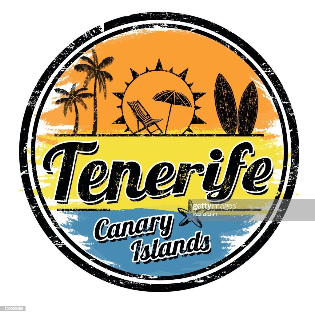 Tenerife grunge stamp