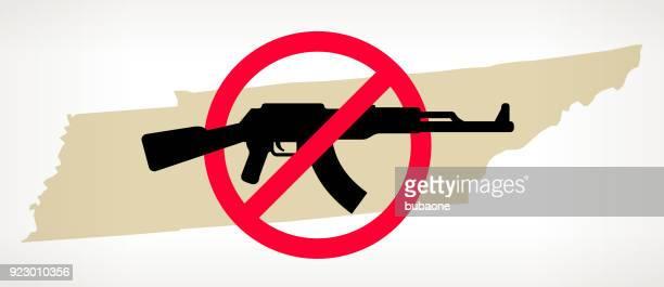 Tennessee No arma violencia Vector Poster