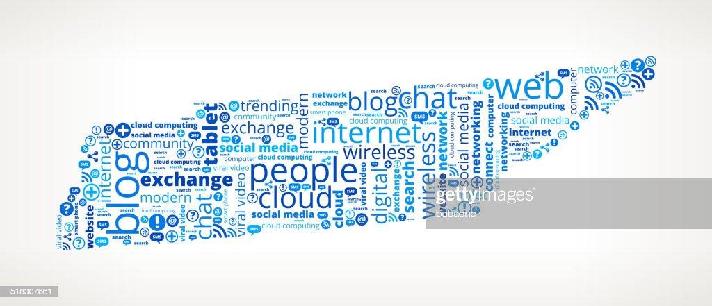 テネシーで最新の通信技術 word のクラウド ベクトルアート getty images