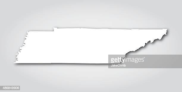 tennessee silhouette white - tennessee stock illustrations