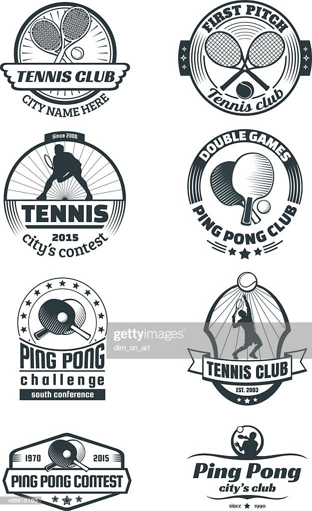 Tennis and ping-pong emlems