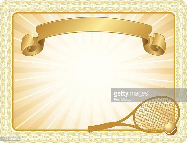 tennis award certificate background - tennis ball stock illustrations