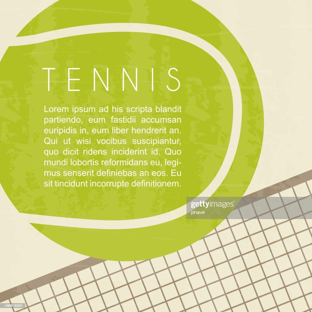 Tennis ball and net design