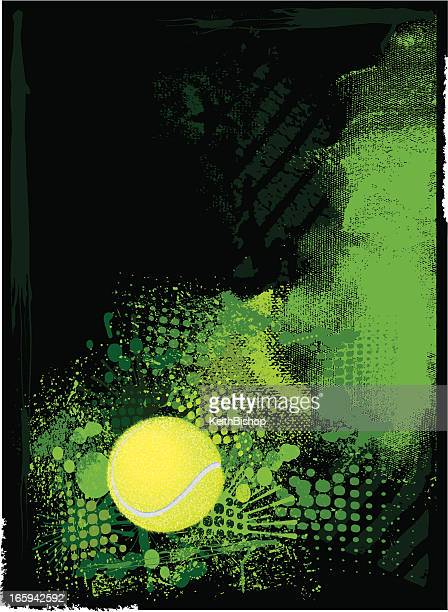 tennis ball background - tennis ball stock illustrations