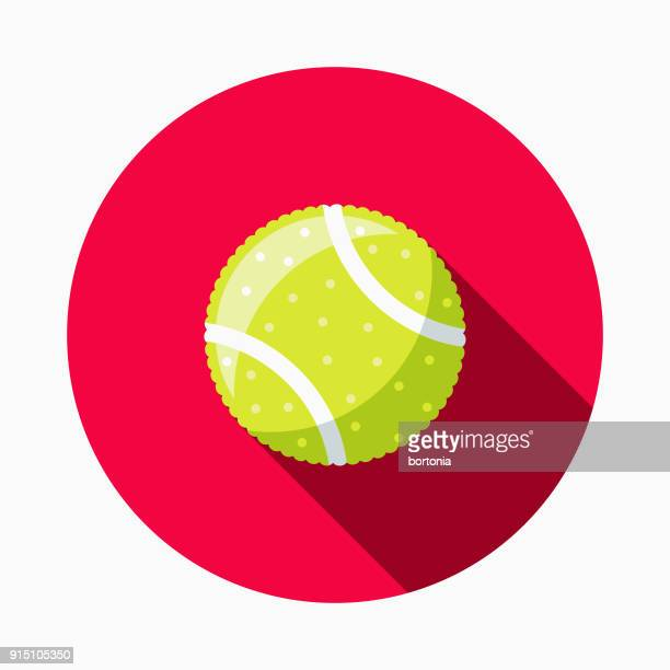 tennis ball flat design pet care icon - dog toys stock illustrations