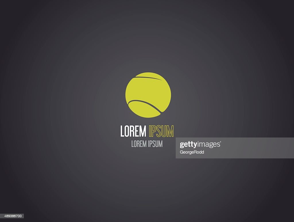 Tennis ball logotype. Logo design.