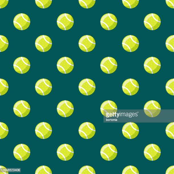 tennis ball pet supplies seamless pattern - tennis ball stock illustrations