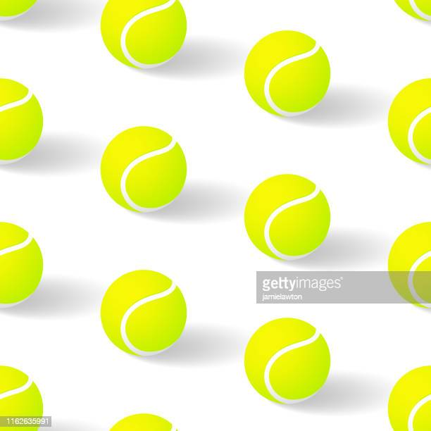 tennis ball seamless pattern - tennis tournament stock illustrations