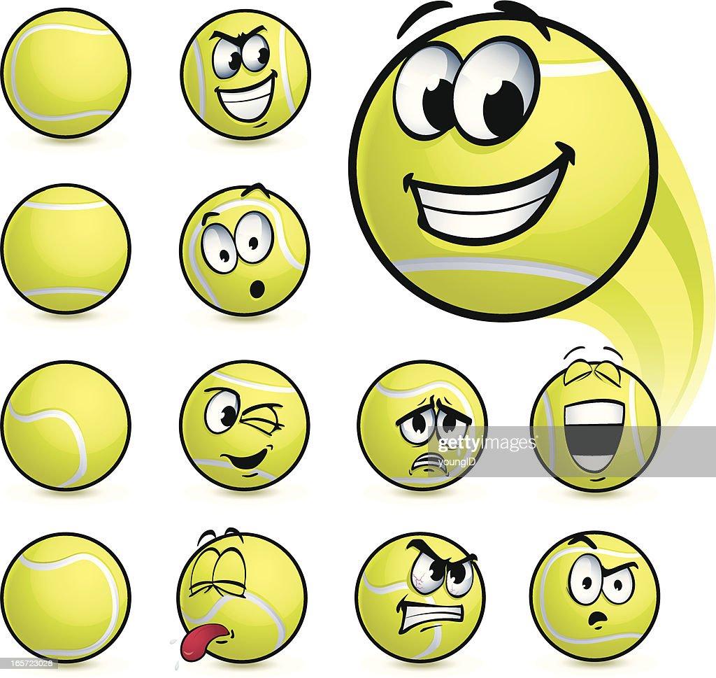 Tennis Ball Smileys