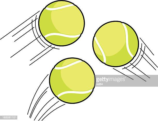 tennis ball swoosh - tennis ball stock illustrations