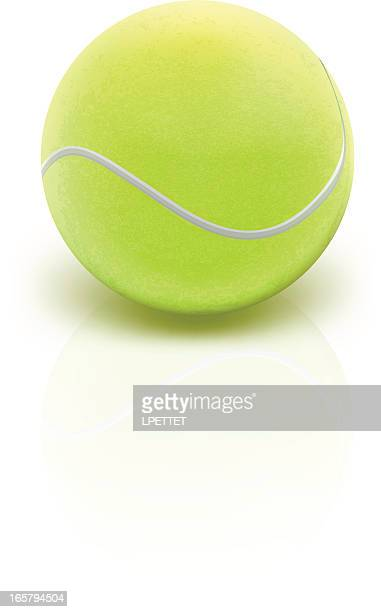 illustrazioni stock, clip art, cartoni animati e icone di tendenza di palla da tennis-illustrazione vettoriale - pallina da tennis