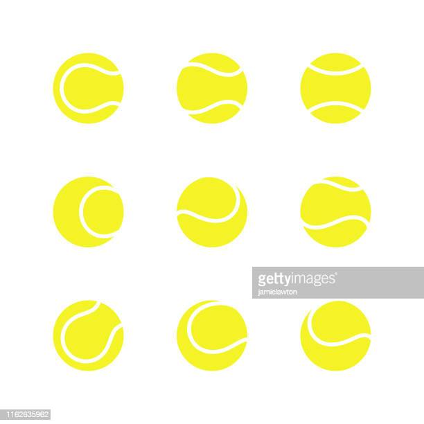 tennis balls - sports ball stock illustrations