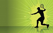 Tennis Burst Background
