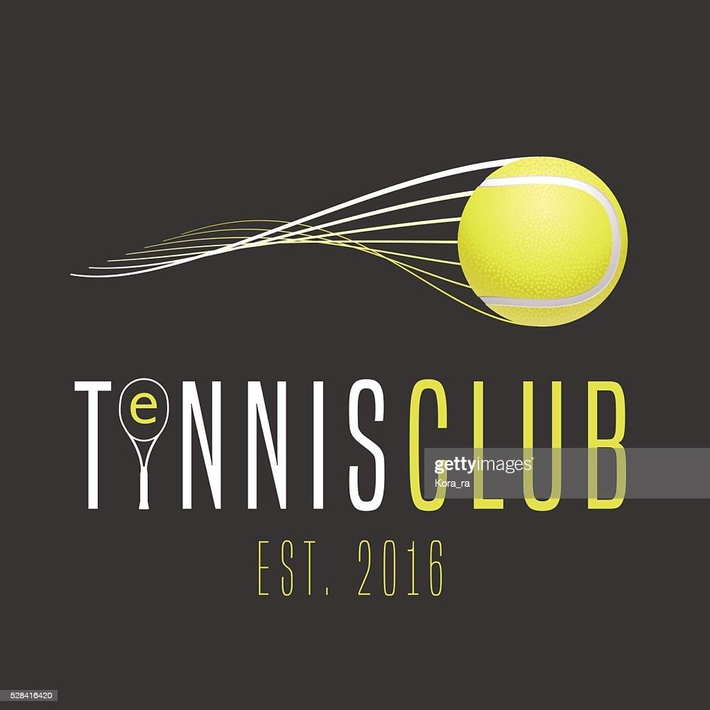 Tennis club vector emblem