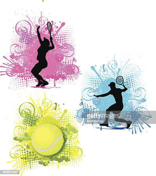 Tennis Color Splash Graphics - Male and Female