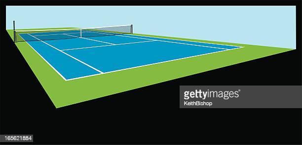 illustrazioni stock, clip art, cartoni animati e icone di tendenza di sfondo di campo da tennis - tennis