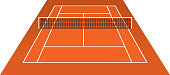 Tennis Court (clay) brick dust stadium