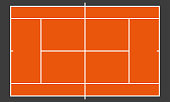Tennis court or field. Realistic blackboard for tactic plan. Colorful vector illustration.