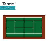 tennis court top view design