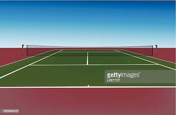 tennis court - tennis stock illustrations