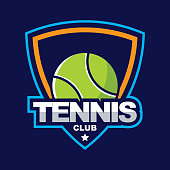 Tennis design badge