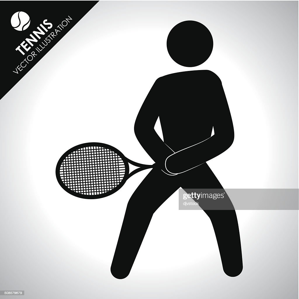 tennis design : Vector Art