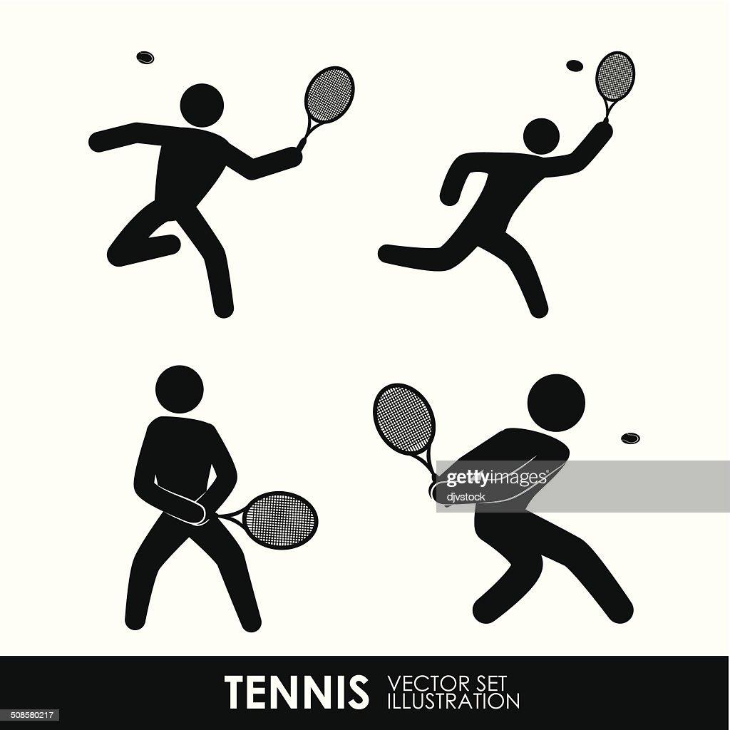 テニスのデザイン : ベクトルアート