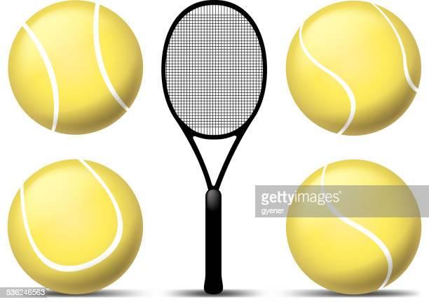 ilustraciones, imágenes clip art, dibujos animados e iconos de stock de eqiupment de tenis - raqueta de tenis