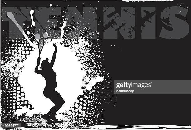 Tennis Frauen Grunge Hintergrund
