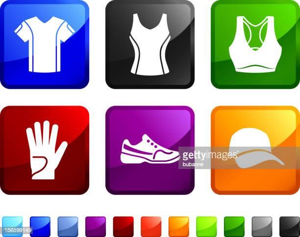 Tennis Gear royalty free vector icon set