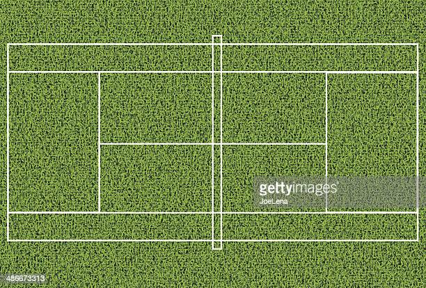 tennis grass court - tennis stock illustrations