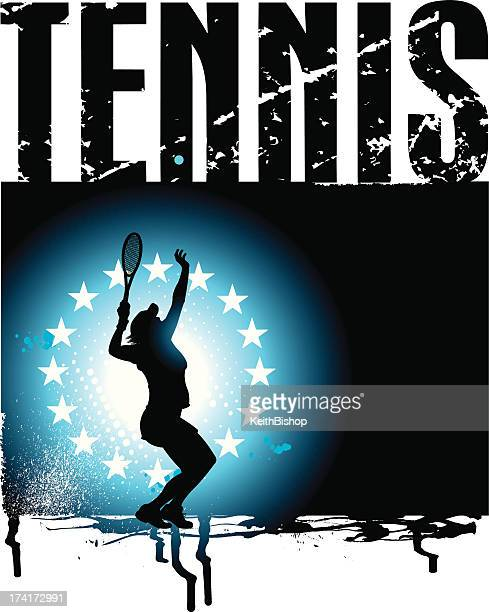 tennis grunge background - women or girls - traditional sport stock illustrations, clip art, cartoons, & icons