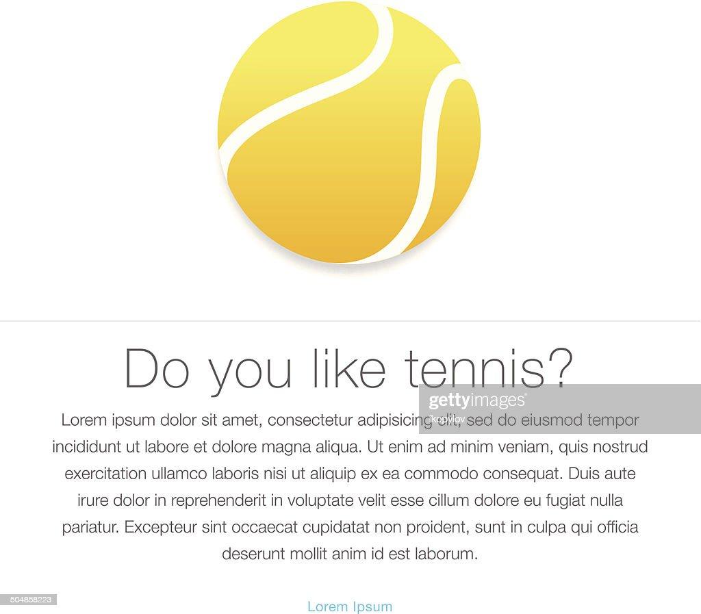 Tennis icon. Yellow tennis ball