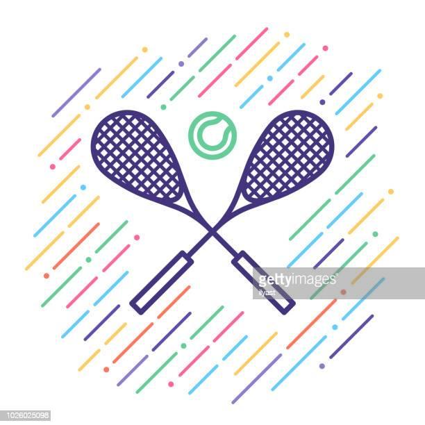 テニス線アイコン - ラケットスポーツ点のイラスト素材/クリップアート素材/マンガ素材/アイコン素材