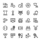Tennis Line Vector Icons