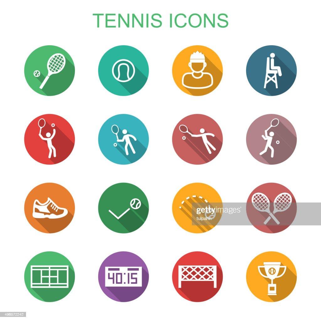 tennis long shadow icons