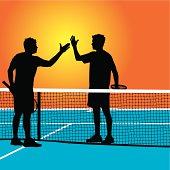 Tennis Match Handshake - Congratulations
