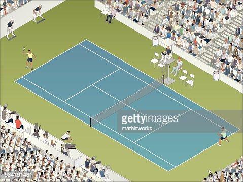 Tennis Match Illustration
