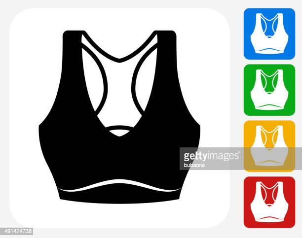 Tennis Outfit Icon Flat Graphic Design