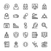 Tennis Outline Vector Icons