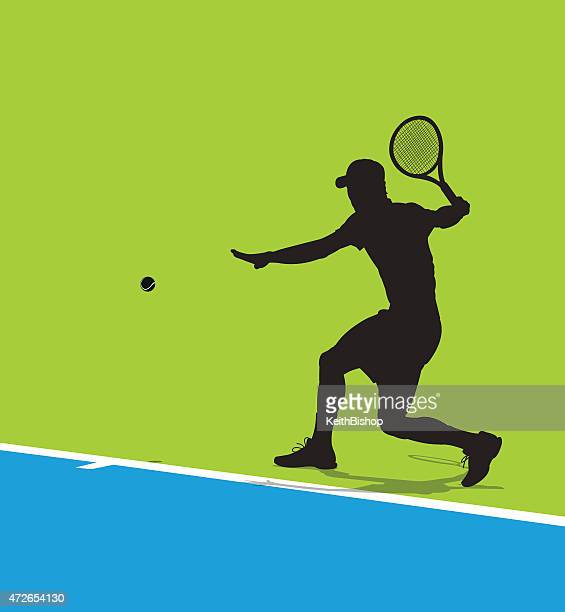 tennis player background - traditional sport stock illustrations, clip art, cartoons, & icons