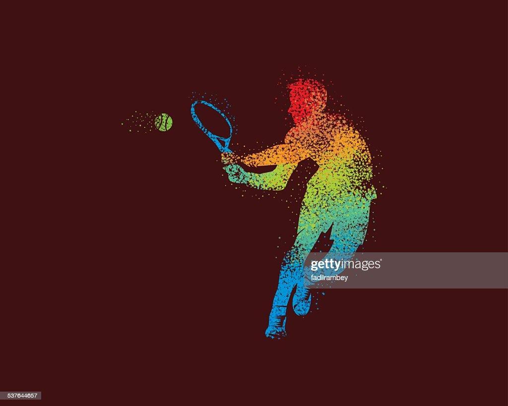 Tennis Player Illustration Star