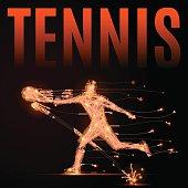 tennis player polygon