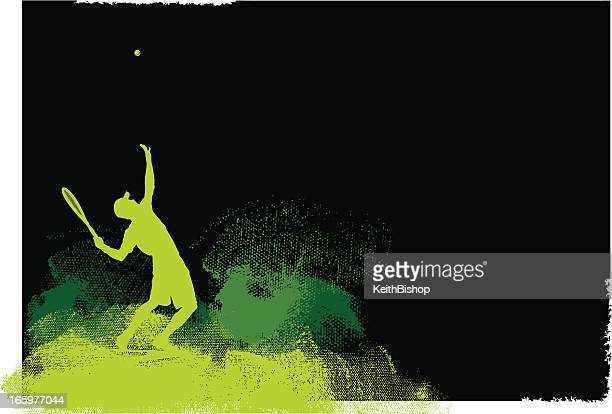 Tennis Player Serve Background - Men