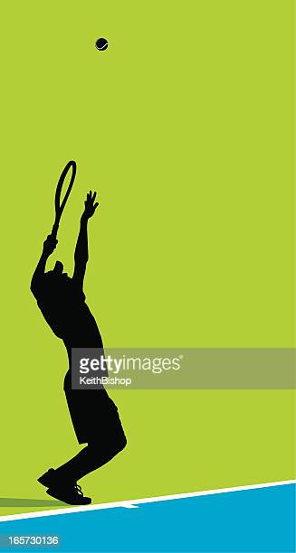 tennis player serving ball background - male - tennis tournament stock illustrations