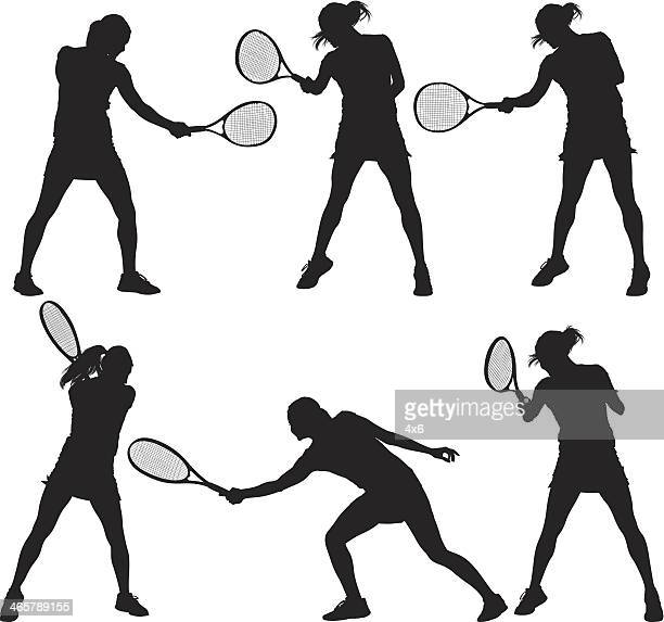 tennis player - multiple image stock illustrations, clip art, cartoons, & icons