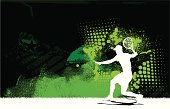 Tennis Player Volley Background - Men