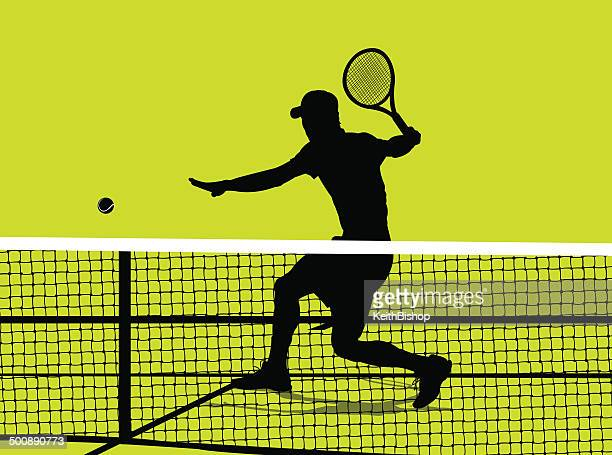 tennis player - volley background - tennis stock illustrations